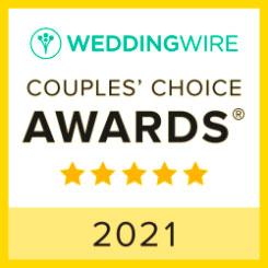 Weddingwire 2021 Couples' Choice Award